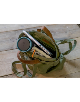 Reusable Coffee Cup Made From Recycled Cups in Backpack