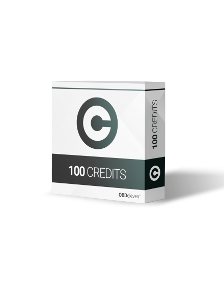 100 credits included in OBDeleven starter pack